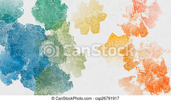 Colorful abstract watercolor background - csp26791917
