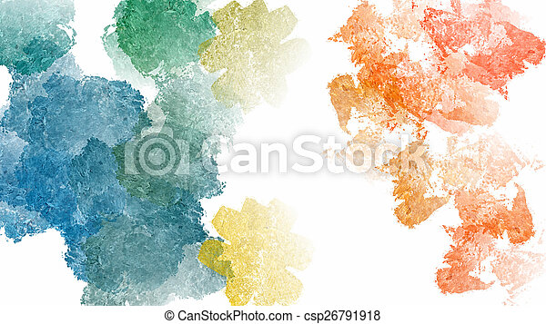Colorful abstract watercolor background - csp26791918