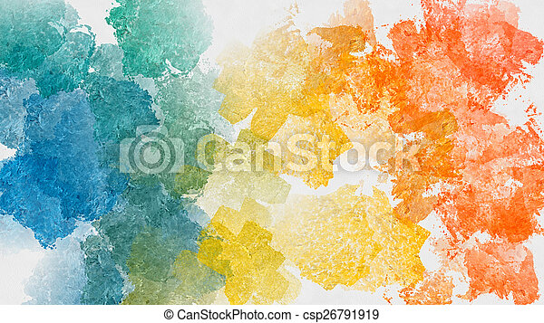 Colorful abstract watercolor background - csp26791919