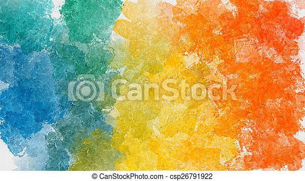 Colorful abstract watercolor background - csp26791922