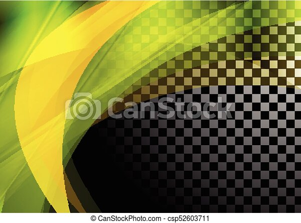 Colorful abstract waves on checkered background - csp52603711