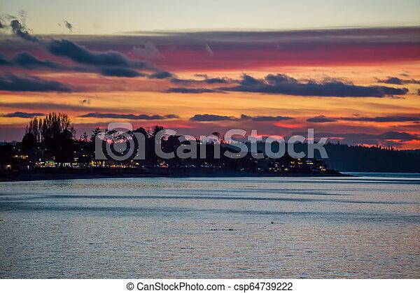 Colorful Alki Sunset 3 - csp64739222