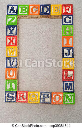 Colorful alphabet blocks A to Z - csp39381844