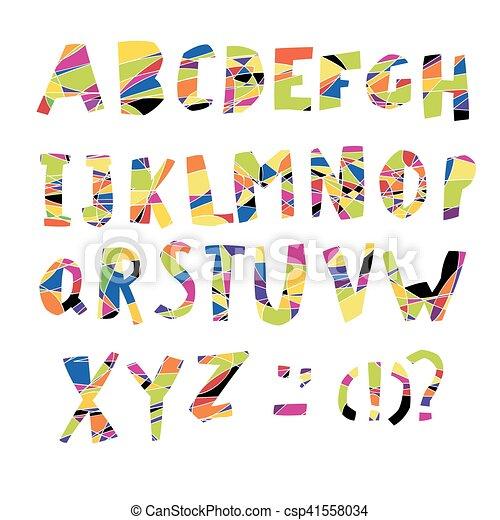 Colorful Alphabet. Capital letters. - csp41558034