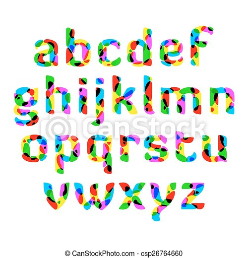 colorful alphabet illustration clip art vector search drawings and rh canstockphoto com clipart alphabets free clip art alphabet stencils