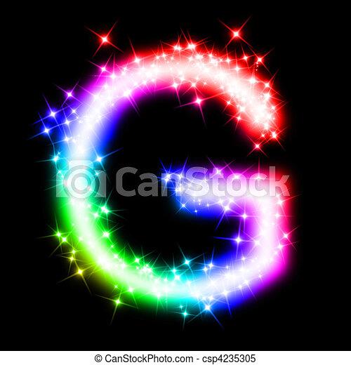 Colorful alphabet letter - g. 3d rendered illustration of a