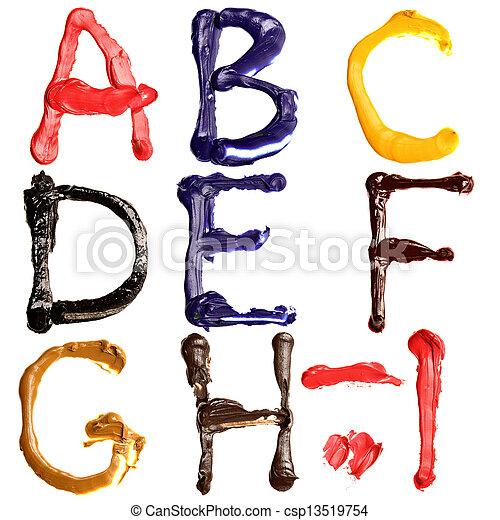 Colorful alphabet - csp13519754