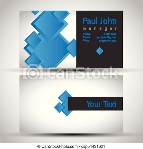 Colorful And Elegant Business Card Design With Front And Back Side