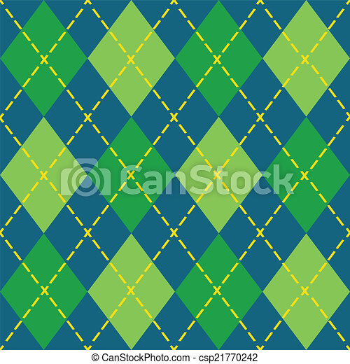 Colorful argyle seamless pattern - csp21770242