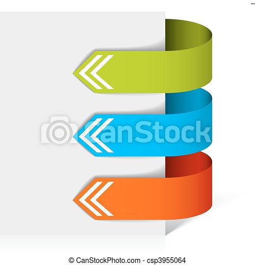colorful arrows pointing at the item - csp3955064