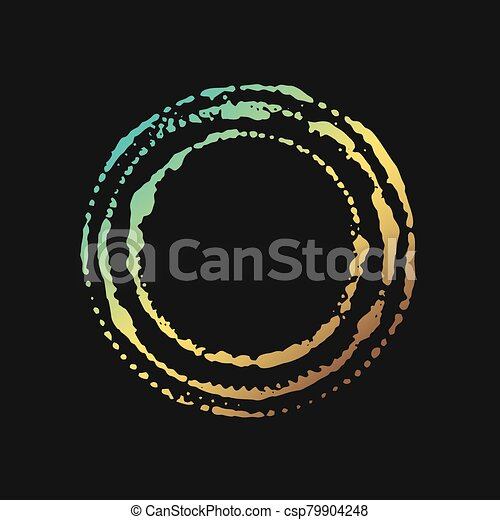 colorful art circle - csp79904248