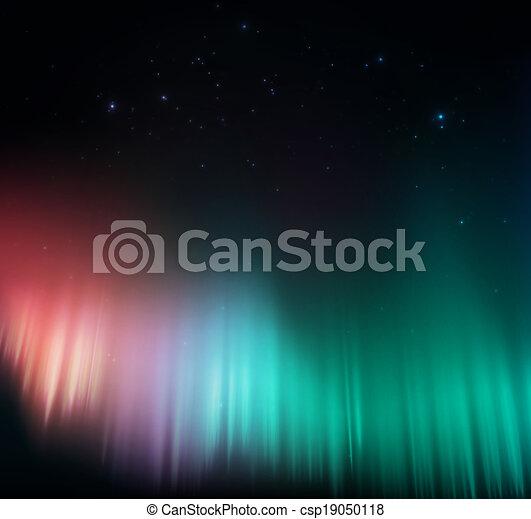 Colorful aurora - csp19050118