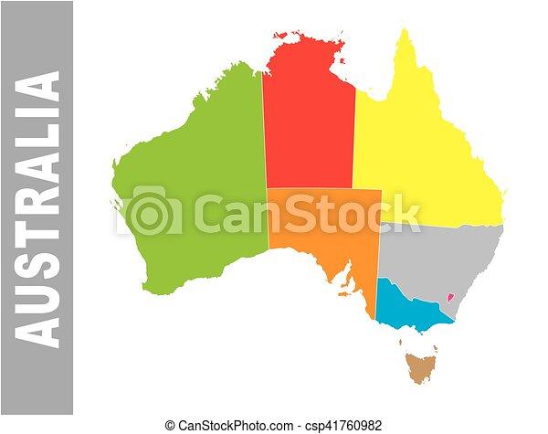 Colorful Australia Administrative And Political Map Vector - Australia political map