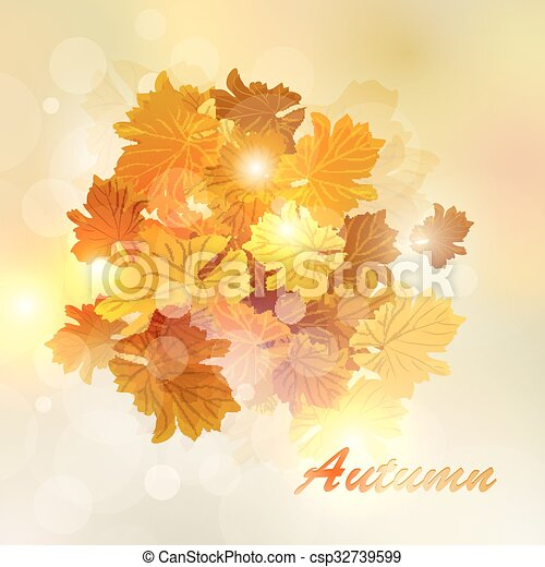 Colorful autumn leaves - csp32739599