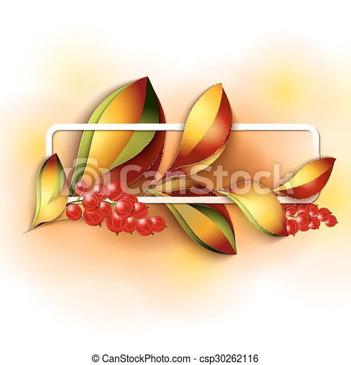 Colorful autumn leaves - csp30262116