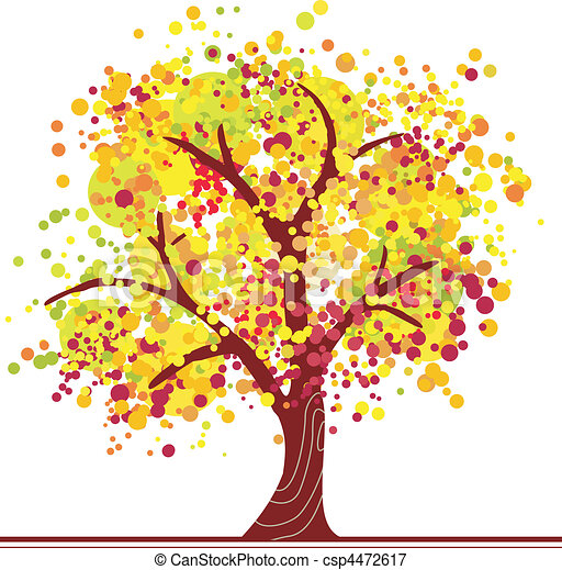 Colorful autumn tree  - csp4472617