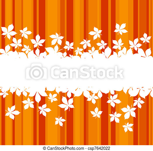 Colorful autumnal leaves background - csp7642022