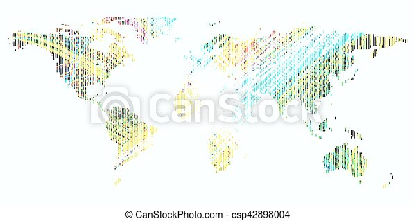 Colorful background with dotted world map abstract waves vector colorful background with dotted world map abstract waves lines bright color curves colourful gumiabroncs Gallery