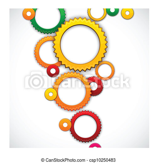 Colorful background with gear circles. - csp10250483