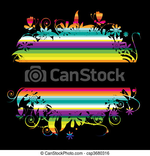Colorful background with place for your text - csp3680316