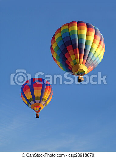 Colorful Balloons Against Blue Sky - csp23918670