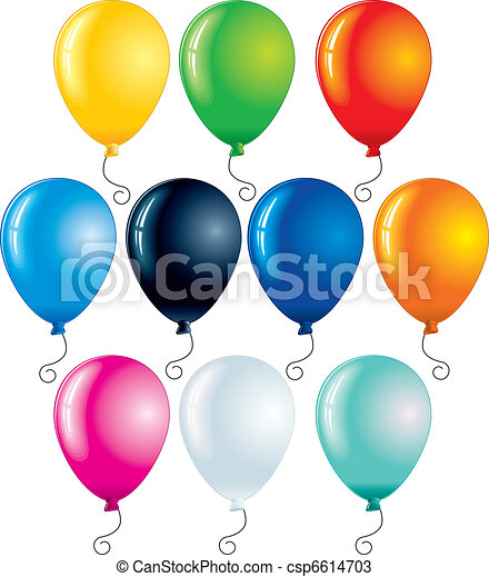 Colorful Balloons - csp6614703