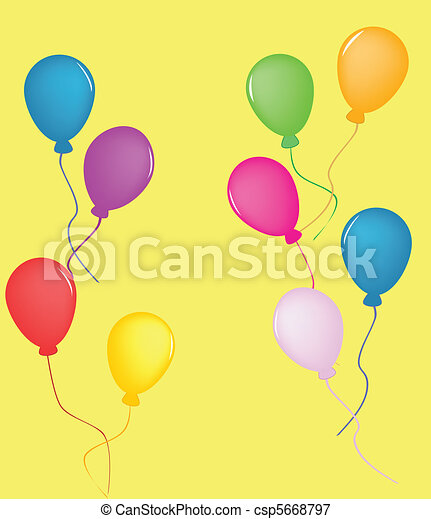 Colorful Balloons - csp5668797