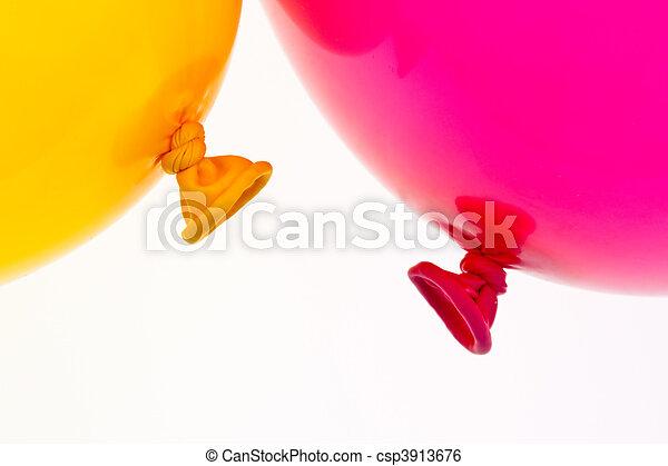 Colorful balloons. Symbol of lightness, freedom, celebration - csp3913676