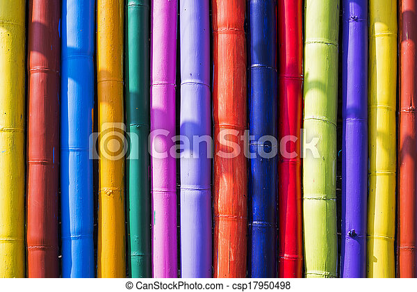 Colorful bamboo background - csp17950498