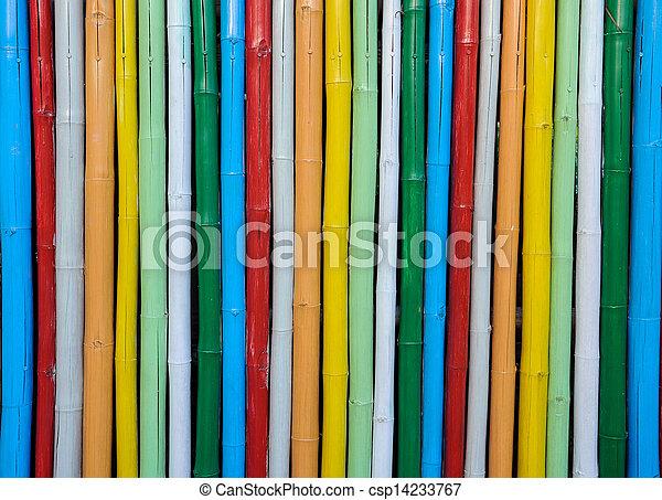 Colorful bamboo. - csp14233767