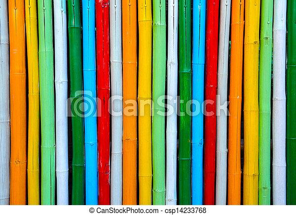 Colorful bamboo. - csp14233768
