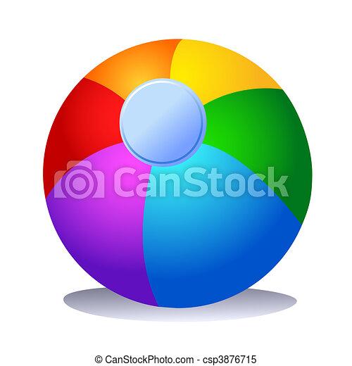Colorful Beach Ball - csp3876715