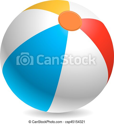 colorful beach ball vector illustration white red yellow and blue rh canstockphoto com beach ball vector art beach ball vector art