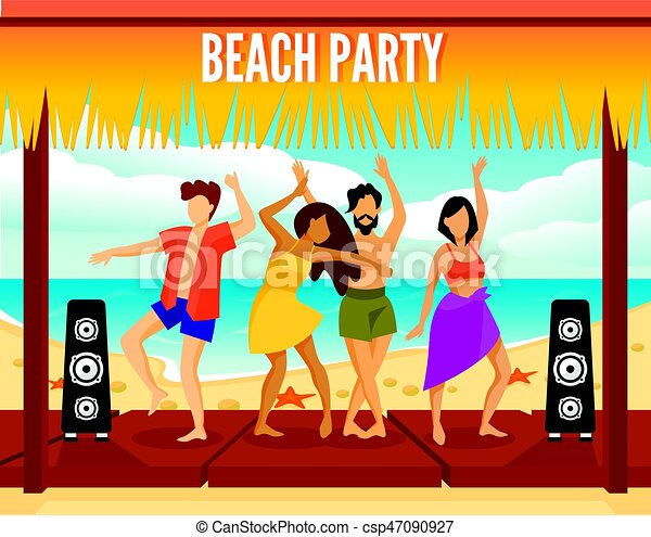 dance at different beach parties