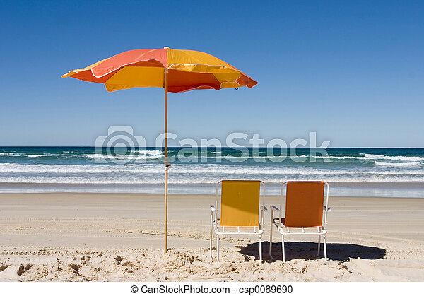 Colorful Beach Umbrella - csp0089690