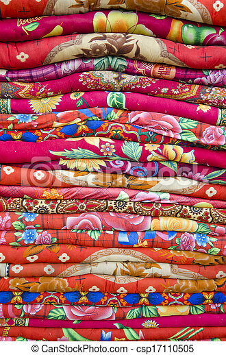 Colorful Bed Sheets Bedding Objects In Asia Market   Csp17110505