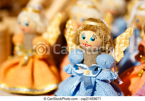 Colorful Belarusian Straw Dolls At The Market In Belarus - csp21459671