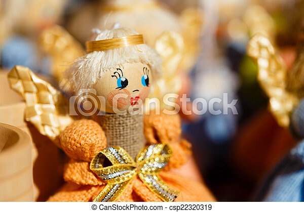 Colorful Belarusian Straw Dolls At The Market In Belarus - csp22320319