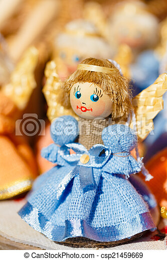Colorful Belarusian Straw Dolls At The Market In Belarus - csp21459669