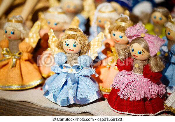 Colorful Belarusian Straw Dolls At The Market In Belarus - csp21559128