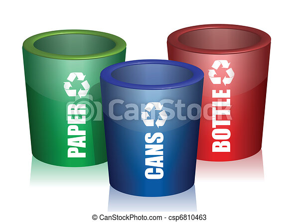 Colorful Bins For Collection - csp6810463