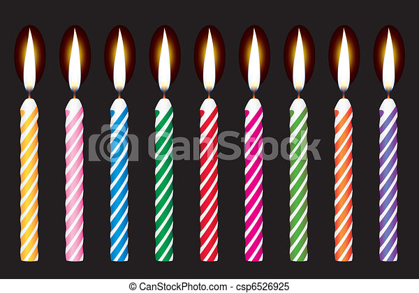 colorful birthday candles - csp6526925