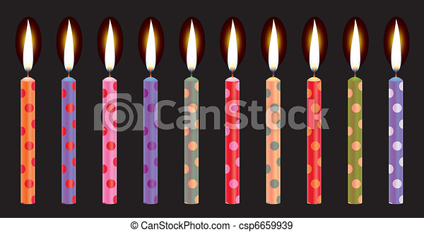 colorful birthday candles - csp6659939