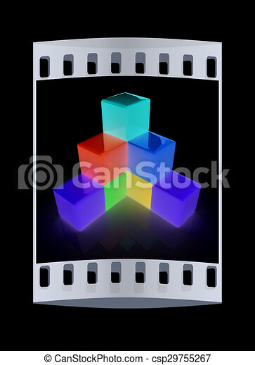 Colorful Block Diagram The Film Strip