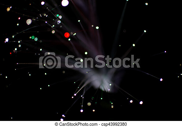 Colorful bokeh light celebrate at night, defocus light abstract background. - csp43992380