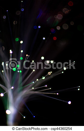 Colorful bokeh light celebrate at night, defocus light abstract background. - csp44360254