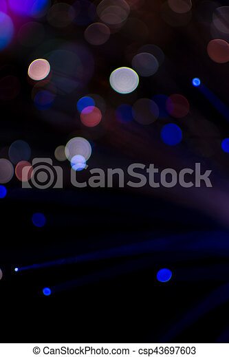 Colorful bokeh light celebrate at night, defocus light abstract background. - csp43697603