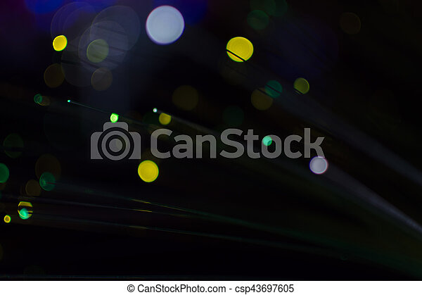 Colorful bokeh light celebrate at night, defocus light abstract background. - csp43697605