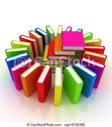 Colorful books on a white background stock illustration - Search ...
