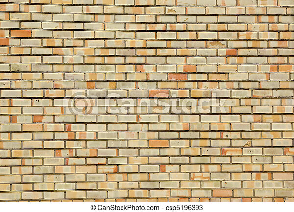 Colorful brick wall - yellow, orange, red. new. stock photos ...